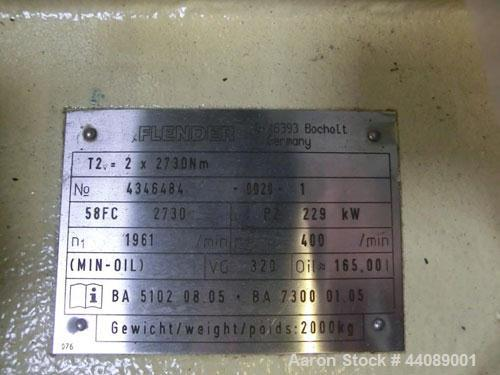 """Used-Coperion ZSK 70 Mc Twin Screw Extruder.  2.76"""" (70 mm) screws, screw speed 400 rpm.  Driven by a 153 hp/115 kW motor, 3..."""