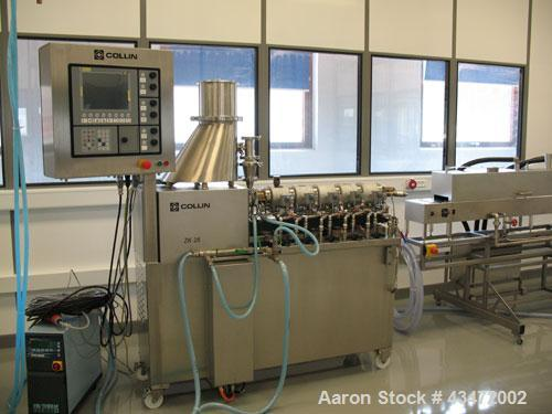 "Used-Dr. Collin ZK-25 Medical Extrusion Line comprised of: (1) Colling ZK-25 twin screw extruder, co-rotating, 0.98"" (25 mm)..."