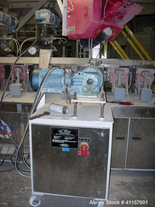 Used- ENTEK MODEL EMAX 73MM EXTRUDER HAVING (2) CO-ROTATING INTERMESHING SCREWS. EXTRUDER BARREL CONSISTS OF TWELVE SECTIONS...