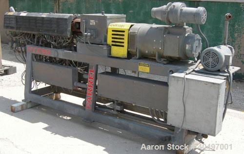 Used- Farrell Twin Screw Extruder, 37 mm,model FTX80