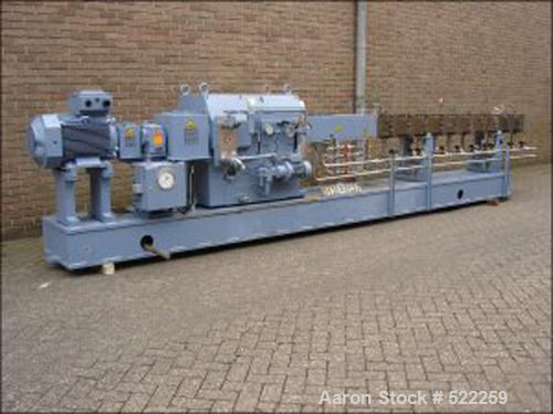 USED: Krupp-Werner Pfleiderer twin screw extruder, type Continua C-83S135E. 36:1 L/D, co-rotating. 9 housing sections, oil h...