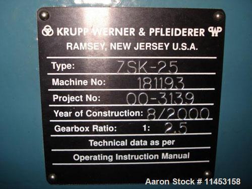 Used-Krupp-Werner Pfleiderer, Model ZSK-25