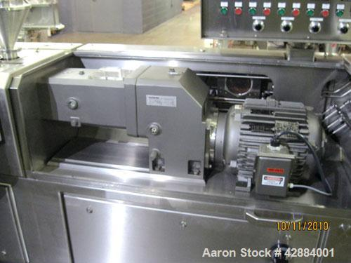Used- Leistritz Model Micro-27/GL-48D Twin Screw Extruder. Manufactured new in 2006. 27mm screw diameter segmented and arran...