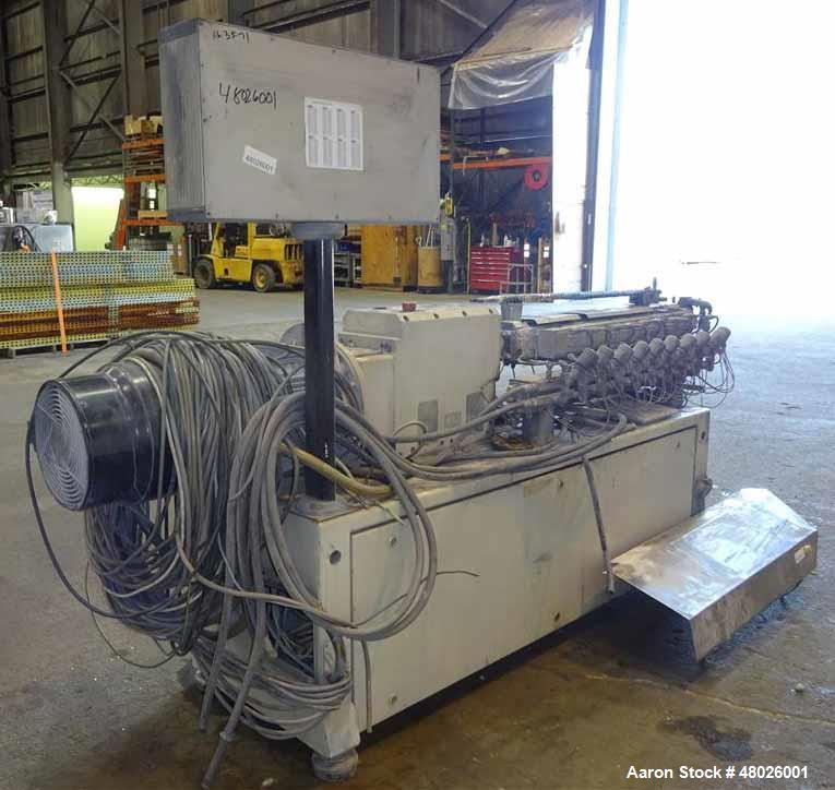 Used- Leistritz 27mm Co-Rotating Twin Screw Extruder, Model ZSE 27 GL 40D.