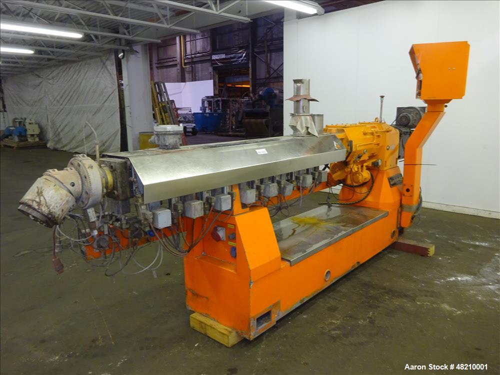 Used- Leistritz 50mm Co-Rotating Twin Screw Extruder, Model ZSE 50/Gl-36D, 36:1