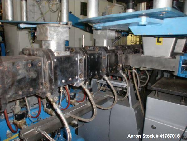 Used- Leistritz Compounding Line, Model ZSE 50 HP. Output approximately 250-450 kg/hr. PP, PE, PET, approximately 80% CaCO. ...