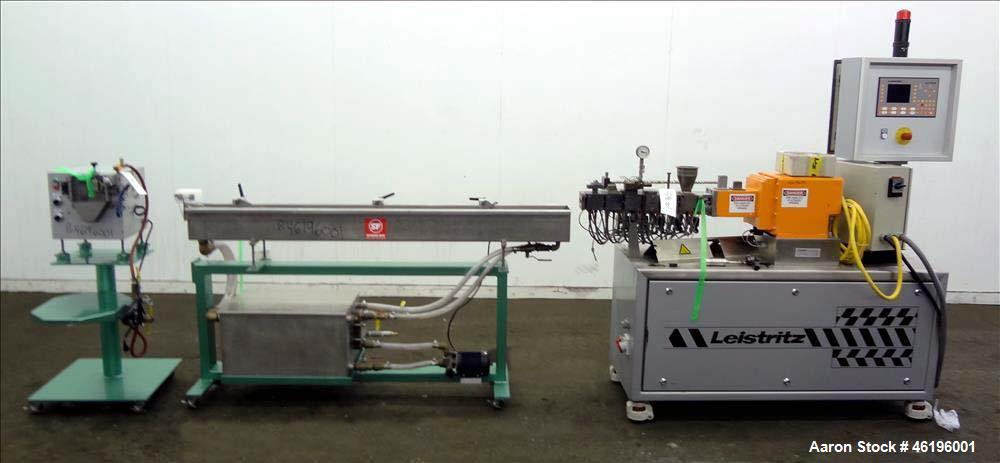 Used- Leistritz Twin Screw Co-Rotating Extrusion Line