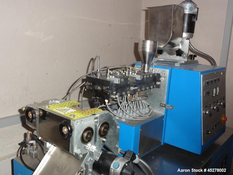 Used-OMC EBVP 20 Laboratory Co-Rotating Twin Screw Extruder