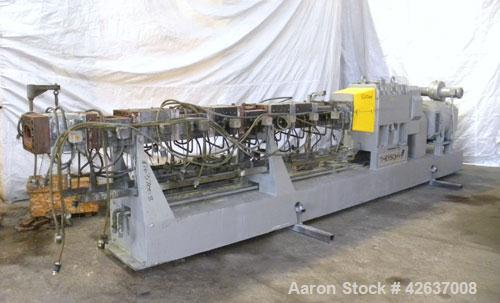 Used- Theysohn 90 mm Twin Screw Extruder/ Compounder, Type TSK 90/40D