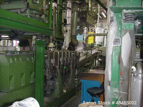"""Used-Theyson Twin Screw Extruder, Type TSK60/1. 60 mm (2.34"""") diameter screws, 36:1 L/D. Side by side, co-rotating. 9 housin..."""