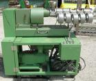Used- Berstorff 25mm Twin Screw Extruder, model ZE25. Co-rotating side by side screw design. Approximately 28 to 1 L/D ratio...