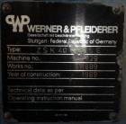 Used- 40MM Werner & Pfleiderer Model ZSK40F 32.5E Co-Rotating Twin Screw Extrude