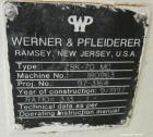 Used- Werner Pfliederer Model ZSK70MC Twin Screw Extruder