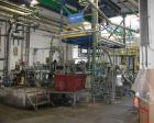 USED: Werner & Pfleiderer twin screw extrusion system, type ZSK120/7.24:1 L/D, side by side. Output 1100-1540 lbs (500-700 k...