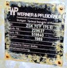 Used- Werner & Pfleiderer 70mm Twin Screw Extruder, Type ZSK70F-175E. Approximate 18 to 1 L/D ratio. Approximate 40-1/2