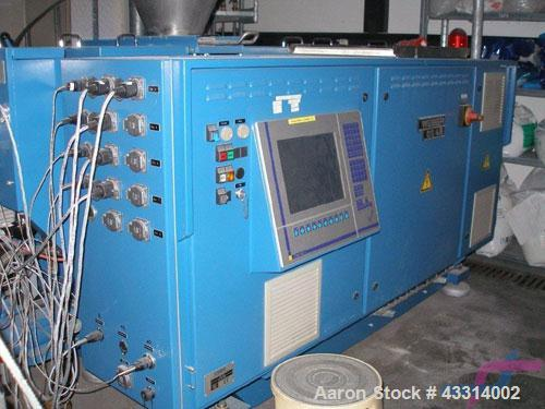 """Used-Weber DS 48 Twin Screw Extruder.  Screw diameter 1.9"""" (48 mm), L/D 17, co-rotating, main motor 43 hp (32 kW), 3/230/480..."""
