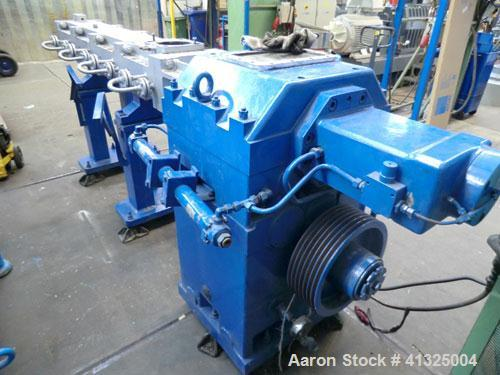 """Used-Werner Pfleiderer Continua 120 Twin Screw Extruder. Screw diameters 2 x 4.7"""" (120 mm), L/D 24, 215.5 hp (160 kW), 300 r..."""