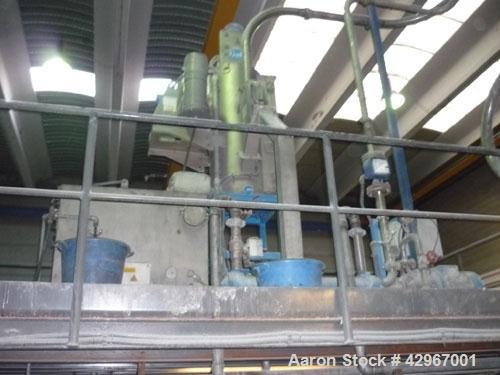 Used-Coperion-Werner Pfleiderer Twin Screw Extruder, type STS 75.71 mm diameter screws, 48:1 L/D. Electrically heated, water...