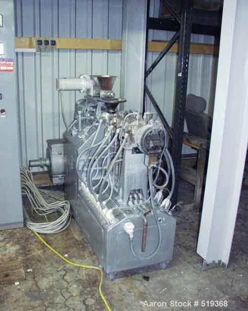 """USED: Werner & Pfleiderer lab size twin screw extruder, type ZDSK28.27:1 L/D. 1.1"""" diameter x 30"""" long (28mm x 773mm) side b..."""