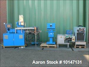 Used-Werner Pfleiderer Twin Screw Extruder. Screw diameter 25 mm, L/D 48 mm.  12 Heating zones.  AC motor 26.82 hp (20 kW) t...