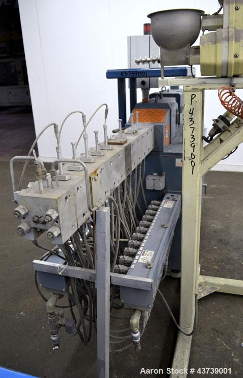 Used- Coperion Werner Pfleiderer 25mm Twin Screw Extruder, Type ZSK-25. Manufactured New 2002. Approximate 40 to 1 L/D ratio...