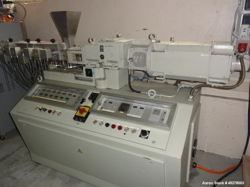 Used- Werner and Pfleiderer Twin Screw Extruder, Model ZSK 25.