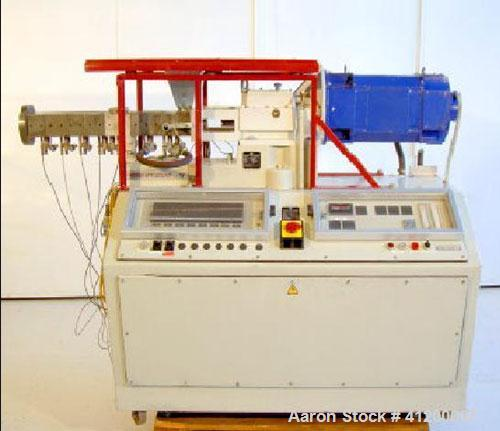 "Used-Werner-Pfleiderer ZSK 30 M9/2 Twin Screw Co-Rotate Extruder, built 1984. Screw diameter 30 mm (1.2""), 6 kW (8 hp) motor."