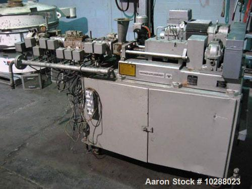 Used-W P Twin Screw Extruder, Model ZSK-30. 30 mm screw diameter, co-rotating, electrically heated, water cooled barrels, 3 ...
