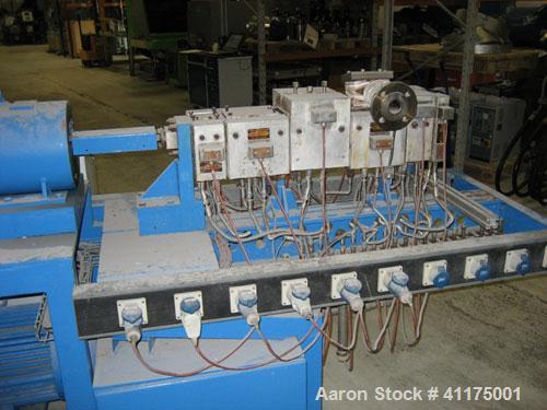 Used-Werner Pfleiderer Twin Screw Extruder,  type ZSK 30,  2 x 30 x 25 L/D. From 1975, rebuilt by Plastico Trading in 1999. ...