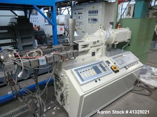 "Used- Werner & Pfleiderer ZSK 30 Twin Screw Extruder. 1.18"" (30 mm) co-rotating screws, 36 L/D. Drive 8 HP (6 kW), 50Hz. Thr..."