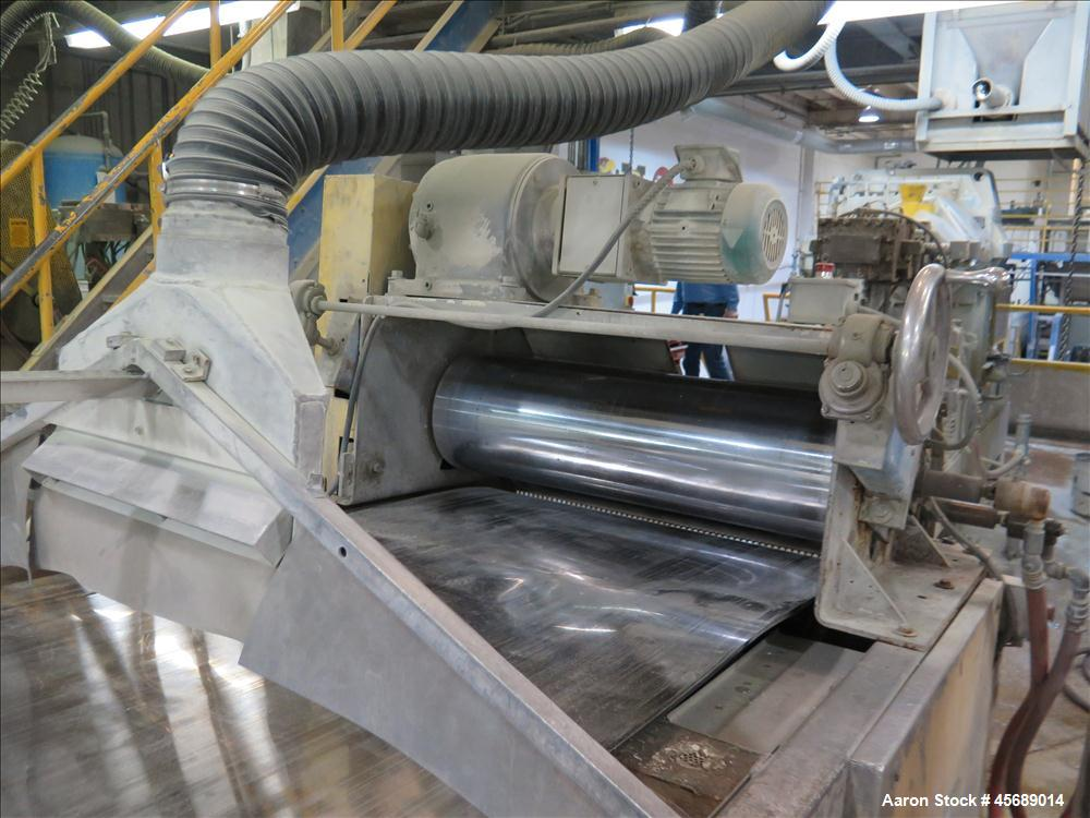 Used-Werner & Pfleiderer 70mm Twin Screw Extruder, Model ZSK-70 SC.  New Baldor 150 HP AC motor,  Gearbox Rebuilt in 2011 by...