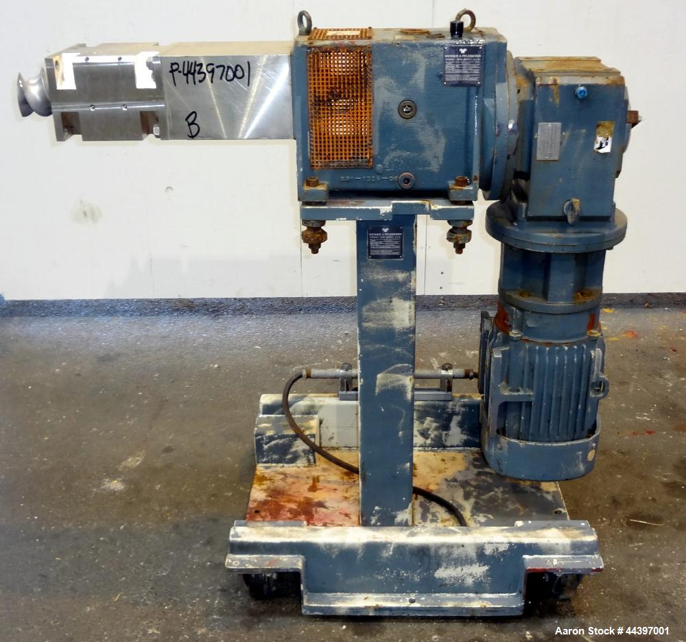 Used- Werner & Pfleiderer 92mm Twin Screw Extruder, Type ZSK-92. Approximately 60 to 1 L/D ratio.  Co-rotating intermeshing ...
