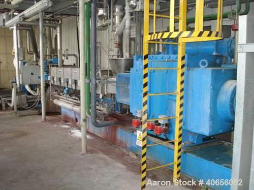 Used-Coperion Werner & Pfleiderer Twin Screw Extruder, type ZSK-133-M151000. Capacity 4 tons per hour. 27:1 L/D. 133 mm diam...
