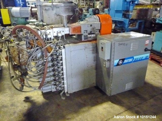 Used- 30mm Werner & Pfleiderer Model ZSK30 Co-Rotating Twin Screw Extruder. Extruder is driven through piv gearbox Model c2n...