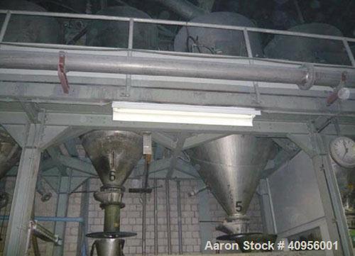 "Used-Werner Pfleiderer Twin Screw Extruder, Type ZSK58F. 58mm (2.2"" diameter) screws, 30:1 L/D, side by side, co-rotating. 7..."