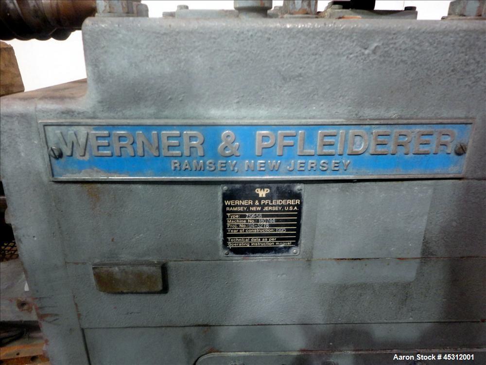 Used- Werner Pfleiderer 58mm Co -Rotating Twin Screw Extruder, Model ZSK-58