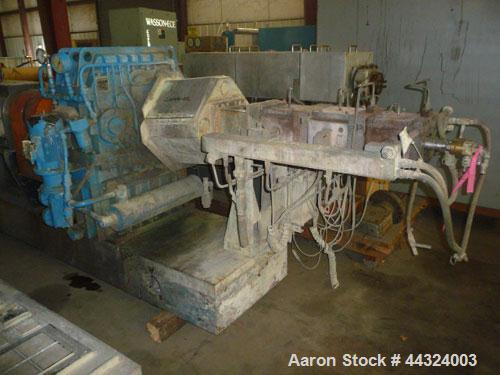Used- Werner and Pfleiderer Twin Screw Extruder, Model ZSK70, 70mm screws, co-rotating, cored screws with rotary unions, 13:...