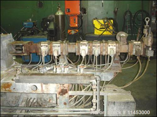 Used-Used: Werner & Pfleiderer twin screw extruder, type 25K40F-32.5E. 40 mm screws, co-rotating, 40:1 L/D, electrically hea...