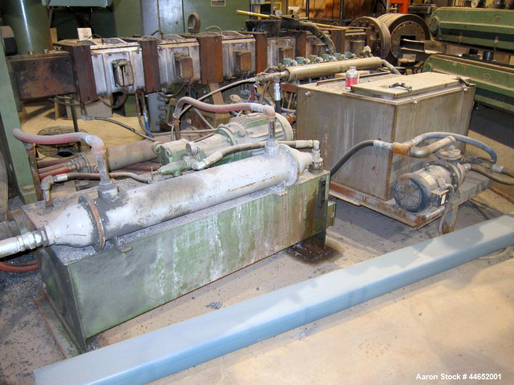 Used-W & P 160mm twin screw extruder, co-rotating, 6 barrel plus feed section.  Twin feed hoppers.  700 hp dc motor with SCR...