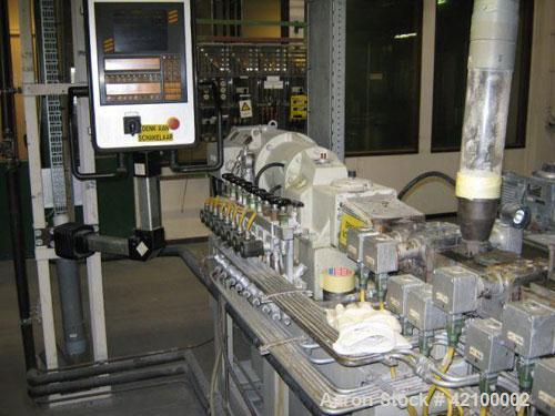 Used- Coperion Werner & Pfleiderer Lab Size Twin Screw Extruder, type ZSK30, 30 mm diameter screws, 33:1 L/D, co-rotating, 9...