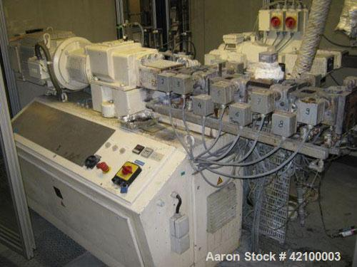 Used- Coperion Werner & Pfleiderer Lab Size Twin Screw Extruder, type ZSK30, 30 mm diameter screws, 38:1 L/D, co-rotating, 9...