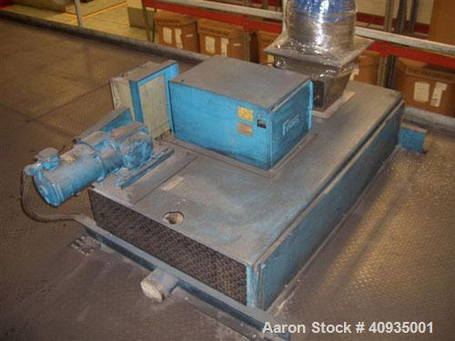 Used-Twin Screw Extruder, 83 mm, 10 Barrels. Electrically heated and water cooled. 200 hp DC/SCR drive. Complete temp contro...