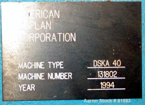 "USED: American Maplan approx 40mm counter-rotating, intermeshing twin screw extruder. (2) 1.57"" diameter x 19"" long screws. ..."