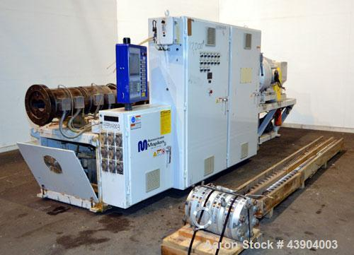 Used- American Maplan 110 mm Counter-Rotating Twin Screw Extruder, Model TS-110