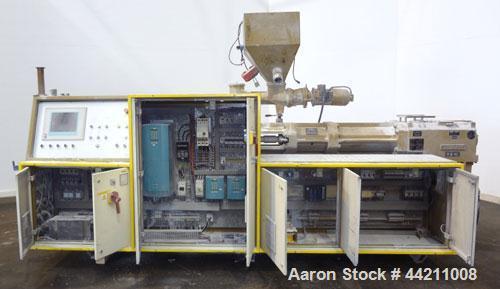 Used- Amut 92mm Counter Rotating Twin Screw Extruder, Model BA 92 NOVEL/22
