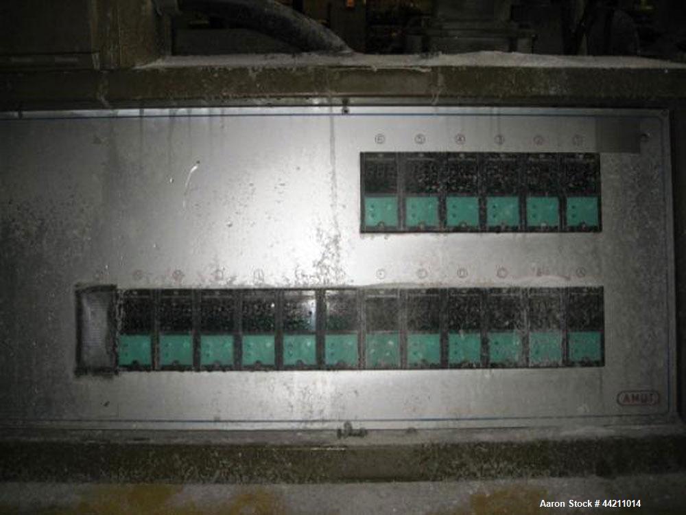 Used- Amut 92mm Counter Rotating Twin Screw Extruder, Model BA 92 NOVEL