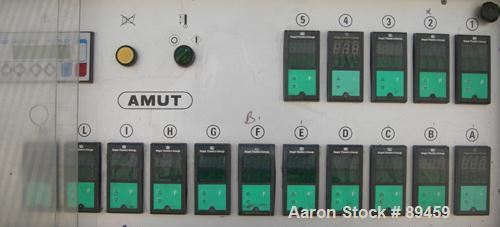 USED: Amut twin screw extruder, 92 mm screw diameter, model BA92. Approximate 24:1 L/D ratio, counter rotating screw design,...
