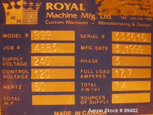 USED: Amut twin screw extruder, 92 mm screw diameter, model BA92. Approximate 22:1 L/D ratio. Counter-rotating screw design....