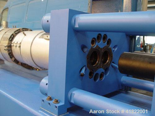 "Used-Anger Counter-Rotating Twin Screw Extruder. 168 hp/126 kW drive, diameter 6.3"" (160 mm), L/D 21 with degassing."