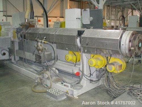 Used-Battenfeld BEX 2-130-25V Twin Screw Extruder, counter-rotating